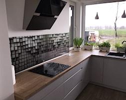 kuchnia w nowoczesnej odsłonie - Średnia biała kuchnia, styl nowoczesny - zdjęcie od Nowicki Kuchnie