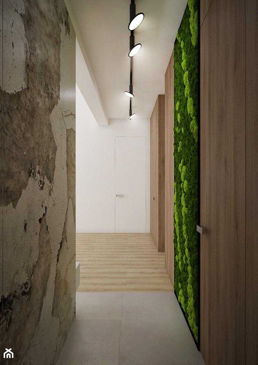 Korytarz z zieloną ścianą - zdjęcie od Nevi Studio
