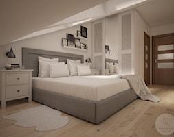 Widok na łóżko oraz szafę - zdjęcie od NeViStudio
