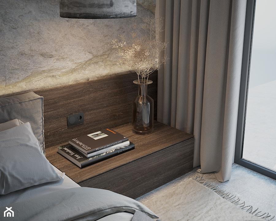 Sypialnia - detal zabudowy szafek nocnych - zdjęcie od Nevi Studio