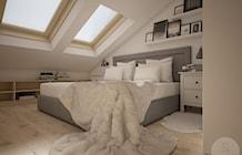 Sypialnia widok na łóżko - zdjęcie od NeViStudio
