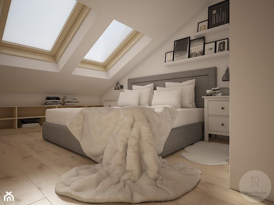 Aranżacje wnętrz - Sypialnia: Sypialnia widok na łóżko - NeViStudio. Przeglądaj, dodawaj i zapisuj najlepsze zdjęcia, pomysły i inspiracje designerskie. W bazie mamy już prawie milion fotografii!