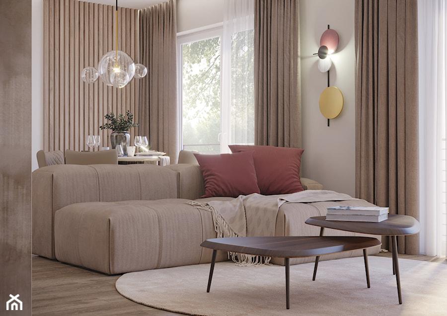 Mieszkanie przy Ślężnej we Wrocławiu - Salon, styl nowoczesny - zdjęcie od Nevi Studio