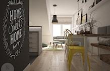 Salon z aneksem kuchennym oraz jadalną - zdjęcie od NeViStudio