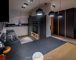 Meble do nowoczesnego domu - Średnia otwarta szara kuchnia w kształcie litery l, styl nowoczesny - zdjęcie od Zirador - Meble tworzone z pasją