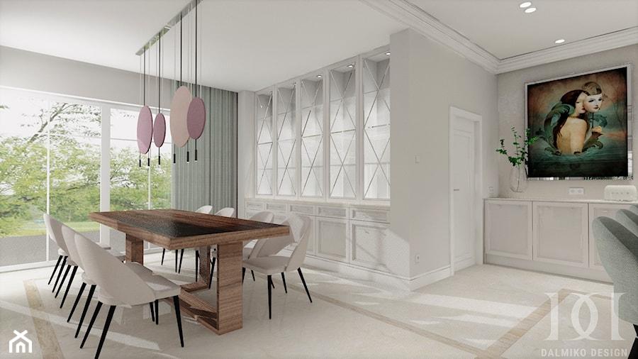 HOLLYWOODZKI SZNYT - Jadalnia, styl nowoczesny - zdjęcie od DALMIKO DESIGN Pracownia Projektowa
