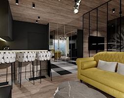 APARTAMENT Z PARZENICĄ ZAKOPANE - Salon, styl nowoczesny - zdjęcie od DALMIKO DESIGN Pracownia Projektowa - Homebook