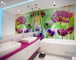 DOM NAD WISŁĄ - Średnia biała kolorowa łazienka bez okna, styl nowoczesny - zdjęcie od DALMIKO DESIGN Pracownia Projektowa