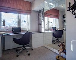 POKOJE NASTOLATKÓW - Mały szary pokój dziecka dla dziewczynki dla ucznia dla nastolatka, styl nowoczesny - zdjęcie od DALMIKO DESIGN Pracownia Projektowa