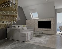 APARTAMENT KRÓLOWA ŚNIEGU ZAKOPANE - Salon, styl nowoczesny - zdjęcie od DALMIKO DESIGN Pracownia Projektowa - Homebook
