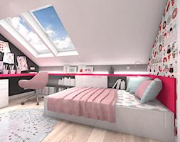 DOM Z WIDOKIEM NA WISŁĘ - Średni biały szary kolorowy pokój dziecka dla dziewczynki dla malucha, styl nowoczesny - zdjęcie od DALMIKO DESIGN Pracownia Projektowa