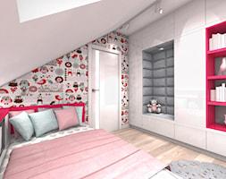 DOM Z WIDOKIEM NA WISŁĘ - Średni szary kolorowy pokój dziecka dla dziewczynki dla malucha, styl nowoczesny - zdjęcie od DALMIKO DESIGN Pracownia Projektowa