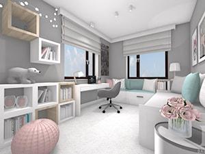 DOM NATURALNY - Duży szary pokój dziecka dla dziewczynki dla ucznia dla nastolatka, styl nowoczesny - zdjęcie od DALMIKO DESIGN Pracownia Projektowa
