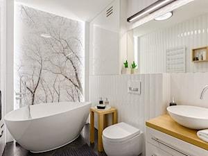 Czarno - biała łazienka z wanną - zdjęcie od ZAWICKA-ID Projektowanie wnętrz