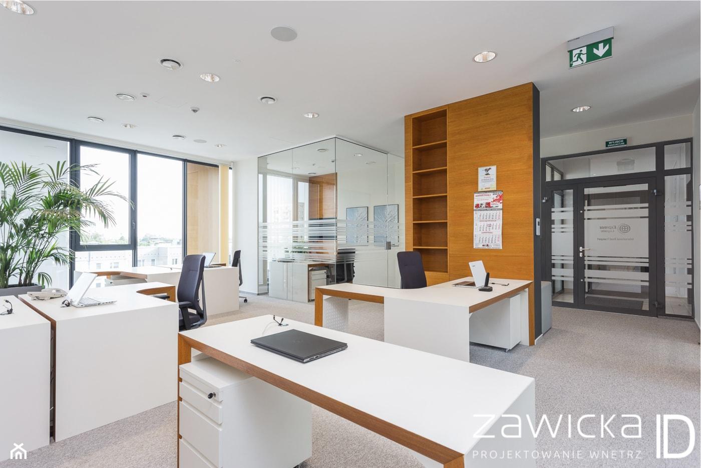 open space i wejście do biura - zdjęcie od ZAWICKA-ID Projektowanie wnętrz - Homebook