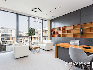 Gabinet prezesa - zdjęcie od ZAWICKA-ID Projektowanie wnętrz