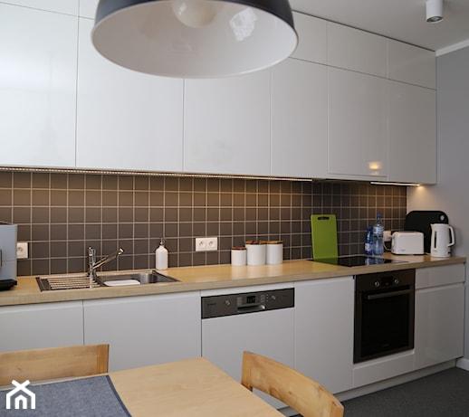 Biało szara kuchnia  zdjęcie od ZAWICKA ID Projektowanie