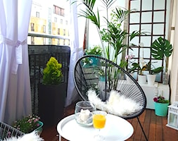 Balkon - Średni taras z tyłu domu, styl nowoczesny - zdjęcie od SP INTERIOR by Sylwia Palczewska