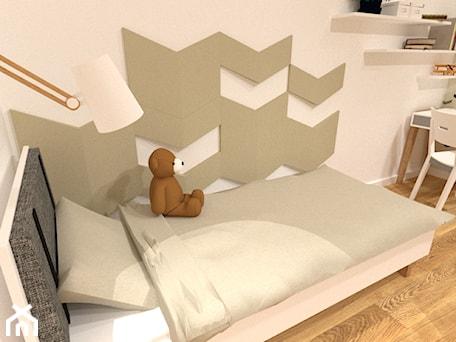 Wielofunkcyjny pokój - Mały szary pokój dziecka dla chłopca dla ucznia dla nastolatka, styl skandynawski - zdjęcie od Patyna Projekt