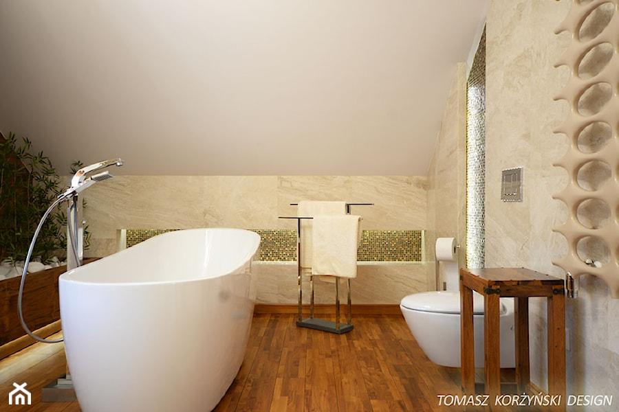 Projekt łazienki Drewno Teak średnia Biała łazienka Na