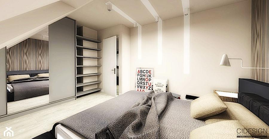 Nowoczesna sypialnia beżowo- grafitowa - zdjęcie od C I D E S I G N  Container Design Ltd.