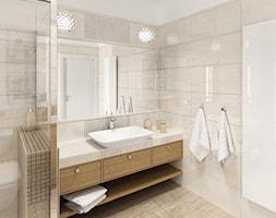 Łazienka klasyczna - Średnia biała beżowa łazienka, styl tradycyjny - zdjęcie od Sublidea Agata Pala - Homebook