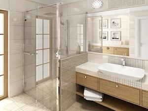 Łazienka klasyczna - Duża beżowa łazienka, styl tradycyjny - zdjęcie od Sublidea Agata Pala