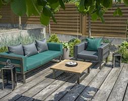 Taras - Średni taras z tyłu domu, styl industrialny - zdjęcie od Doram Design - Homebook