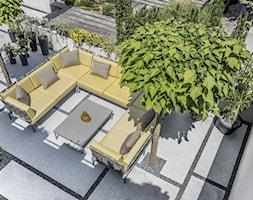 Taras - Średni taras z tyłu domu, styl nowoczesny - zdjęcie od Doram Design - Homebook