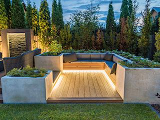 Ogród nocą. Oświetlenie ogrodu