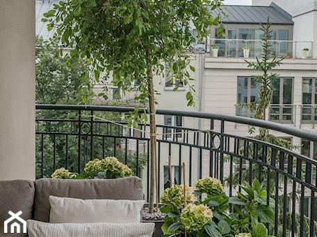 Aranżacje wnętrz - Taras: Elegancki balkon - Miejskie Ziele. Przeglądaj, dodawaj i zapisuj najlepsze zdjęcia, pomysły i inspiracje designerskie. W bazie mamy już prawie milion fotografii!