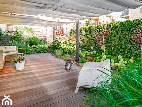 Aranżacje wnętrz - Ogród: Sposób na ogród na parterze - Miejskie Ziele. Przeglądaj, dodawaj i zapisuj najlepsze zdjęcia, pomysły i inspiracje designerskie. W bazie mamy już prawie milion fotografii!