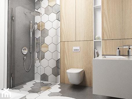 Aranżacje wnętrz - Łazienka: Łazienka dla dziecka - Średnia biała szara łazienka bez okna, styl nowoczesny - FOORMA Pracownia Architektury Wnętrz. Przeglądaj, dodawaj i zapisuj najlepsze zdjęcia, pomysły i inspiracje designerskie. W bazie mamy już prawie milion fotografii!