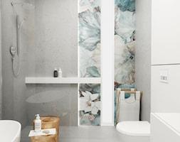 Dom w Krakowie - Średnia szara łazienka w bloku w domu jednorodzinnym bez okna, styl nowoczesny - zdjęcie od FOORMA Pracownia Architektury Wnętrz