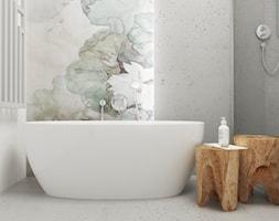 Dom w Krakowie - Średnia łazienka w domu jednorodzinnym jako salon kąpielowy bez okna, styl nowoczesny - zdjęcie od FOORMA Pracownia Architektury Wnętrz