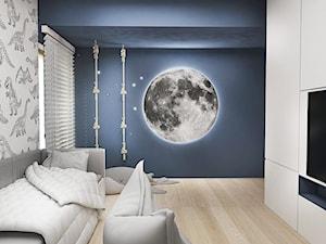 Pokój chłopca - Średni szary niebieski pokój dziecka dla chłopca dla nastolatka, styl nowoczesny - zdjęcie od FOORMA Pracownia Architektury Wnętrz