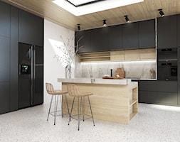 Kuchnia - Średnia biała kuchnia w kształcie litery l, styl skandynawski - zdjęcie od FOORMA Pracownia Architektury Wnętrz