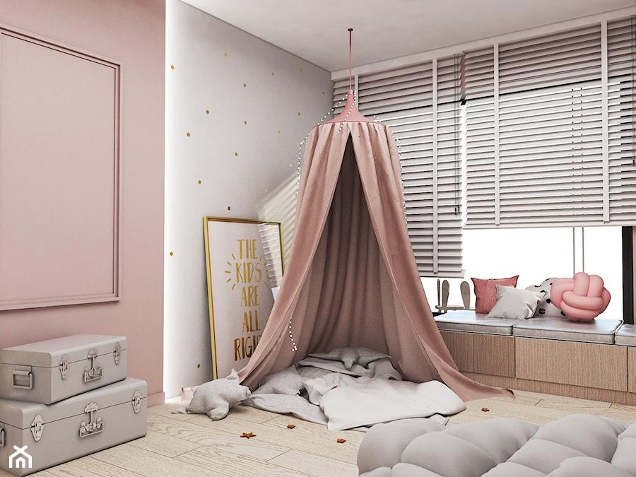 Aranżacje wnętrz - Pokój dziecka: Dom Tychy II - Mały szary różowy pokój dziecka dla dziewczynki dla malucha, styl nowoczesny - FOORMA Pracownia Architektury Wnętrz. Przeglądaj, dodawaj i zapisuj najlepsze zdjęcia, pomysły i inspiracje designerskie. W bazie mamy już prawie milion fotografii!