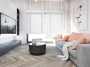 Mieszkanie Poznań - Mały biały salon, styl klasyczny - zdjęcie od FOORMA Pracownia Architektury Wnętrz