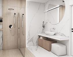 Dom Tychy II - Mała szara łazienka w bloku w domu jednorodzinnym bez okna, styl nowoczesny - zdjęcie od FOORMA Pracownia Architektury Wnętrz