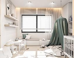 Dom Warszawa - Średni biały pokój dziecka dla dziewczynki dla ucznia dla niemowlaka, styl nowoczesny - zdjęcie od FOORMA Pracownia Architektury Wnętrz