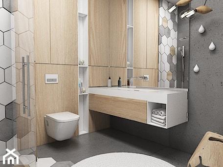Aranżacje wnętrz - Łazienka: Łazienka dla dziecka - Średnia czarna łazienka w bloku w domu jednorodzinnym bez okna, styl nowoczesny - FOORMA Pracownia Architektury Wnętrz. Przeglądaj, dodawaj i zapisuj najlepsze zdjęcia, pomysły i inspiracje designerskie. W bazie mamy już prawie milion fotografii!