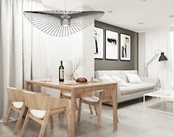 Dom w Krakowie - Średnia otwarta biała szara jadalnia w salonie, styl nowoczesny - zdjęcie od FOORMA Pracownia Architektury Wnętrz