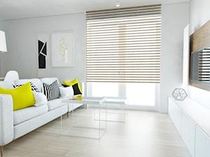 Mieszkanie w Bieruniu - Średni szary biały salon, styl nowoczesny - zdjęcie od FOORMA Pracownia Architektury Wnętrz