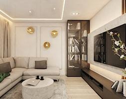Projekt Domu we WrocławiuII - Salon, styl nowoczesny - zdjęcie od FOORMA Pracownia Architektury Wnętrz - Homebook
