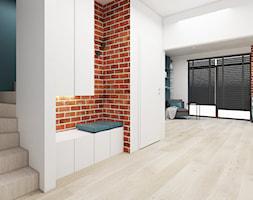 Dom Mogilany - Duży niebieski brązowy hol / przedpokój, styl tradycyjny - zdjęcie od FOORMA Pracownia Architektury Wnętrz