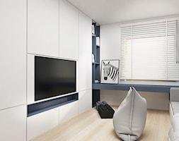 Pokój chłopca - Mały biały pokój dziecka dla chłopca dla dziewczynki dla nastolatka, styl nowoczesny - zdjęcie od FOORMA Pracownia Architektury Wnętrz
