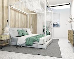 Sypialnia - Średnia biała sypialnia dla gości, styl skandynawski - zdjęcie od FOORMA Pracownia Architektury Wnętrz