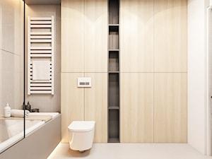 Mieszkanie Kraków - Średnia biała szara łazienka bez okna, styl nowoczesny - zdjęcie od FOORMA Pracownia Architektury Wnętrz