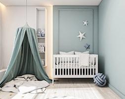Dom Warszawa - Średni biały szary pokój dziecka dla chłopca dla dziewczynki dla niemowlaka, styl nowoczesny - zdjęcie od FOORMA Pracownia Architektury Wnętrz
